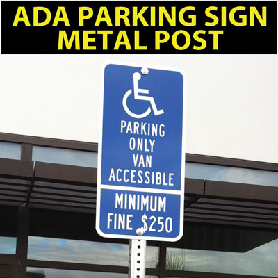 ADAparkingSignMetalPost