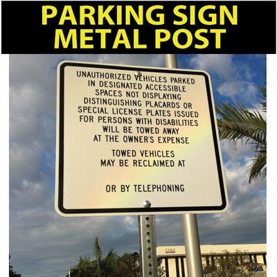 parkingSignMetalPostA