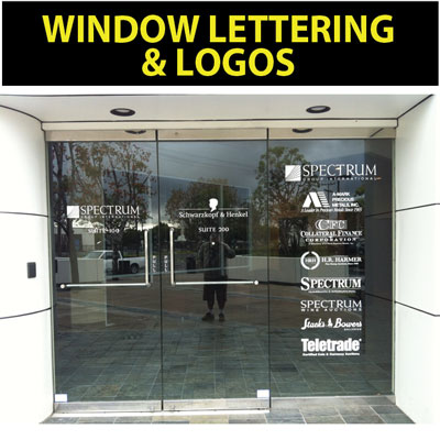 Window lettering decals window lettering logo decals
